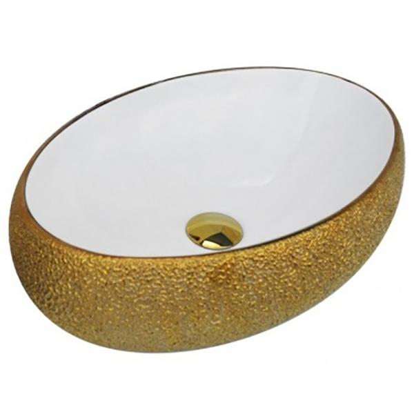 Раковина-чаша CeramaLux 48 433 Белая Золотая раковина чаша ceramalux 48 9132 белая
