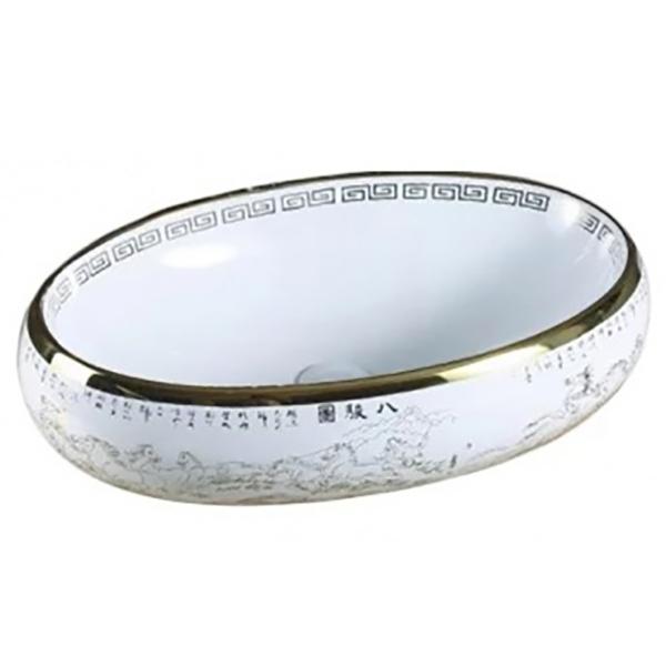 Раковина-чаша CeramaLux 59 472 Белая Золотая