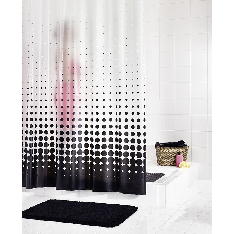 Штора для ванны Ridder Blacky 200х180 Черная фото