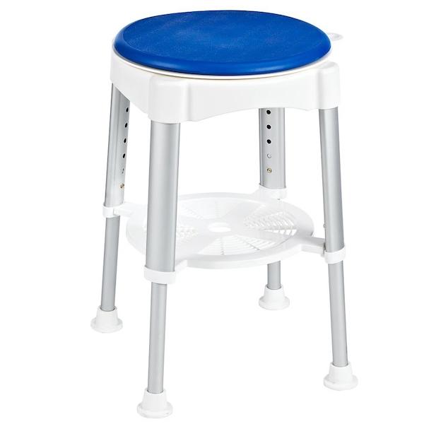 Табурет в ванную Ridder Assistent А0050401 Хром Белый, Синий стул в ванну ridder assistent а00602101 белый хром
