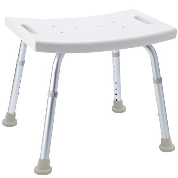 Табурет в ванную Ridder Assistent А00601101 Белый, Хром стул в ванну ridder assistent а00602101 белый хром