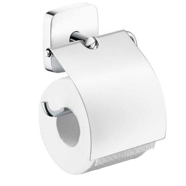 Фото - Держатель туалетной бумаги Hansgrohe PuraVida 41508000 с крышкой Хром держатель туалетной бумаги gemy xga60058t хром