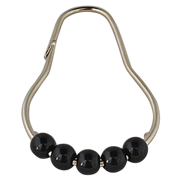 Кольца для карниза Ridder 49560 Хром Черный