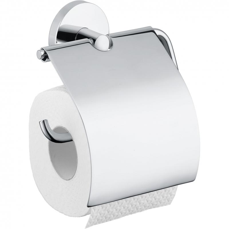 Фото - Держатель туалетной бумаги Hansgrohe Logis 40523000 с крышкой Хром держатель туалетной бумаги gemy xga60058t хром