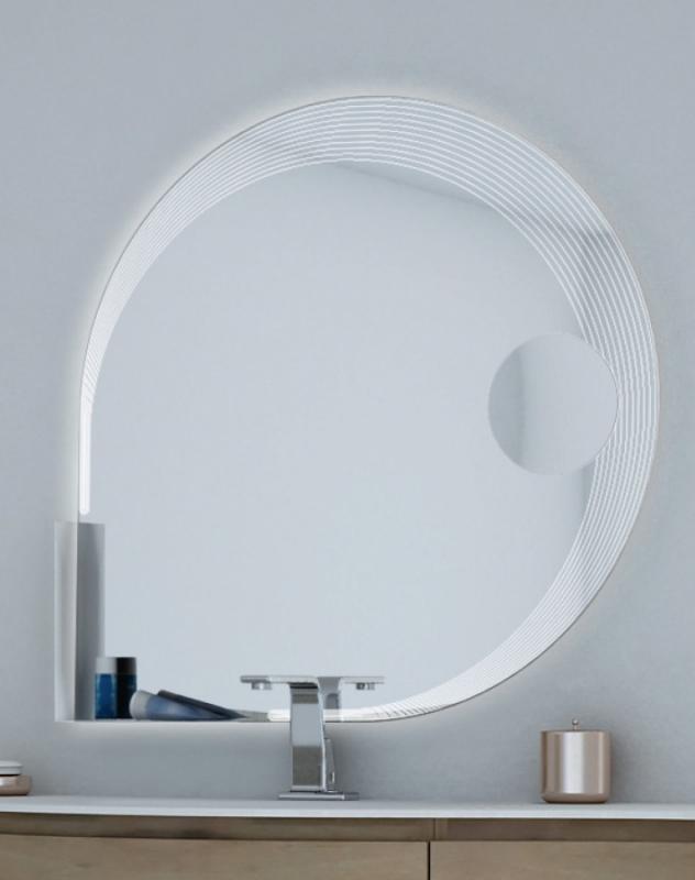 Зеркало Cezares 90 с увеличительным зеркалом и со встроенной LED подсветкой со LED подсветкой