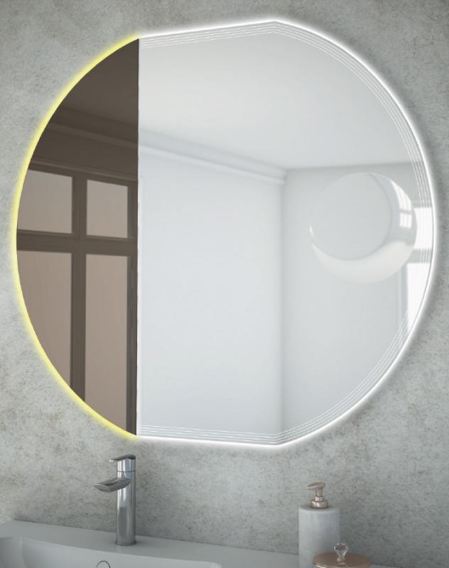Зеркало Cezares 60 с увеличительным зеркалом, со встроенной LED подсветкой, с системой Антизапотевание с LED подсветкой
