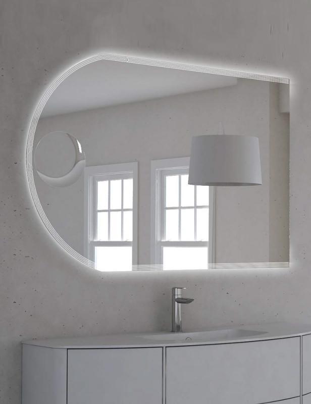 Зеркало Cezares 120 с увеличительным зеркалом, со встроенной LED подстветкой, системой Антизапотевания, риверсивное 45030, 1200х800 с подстветкой