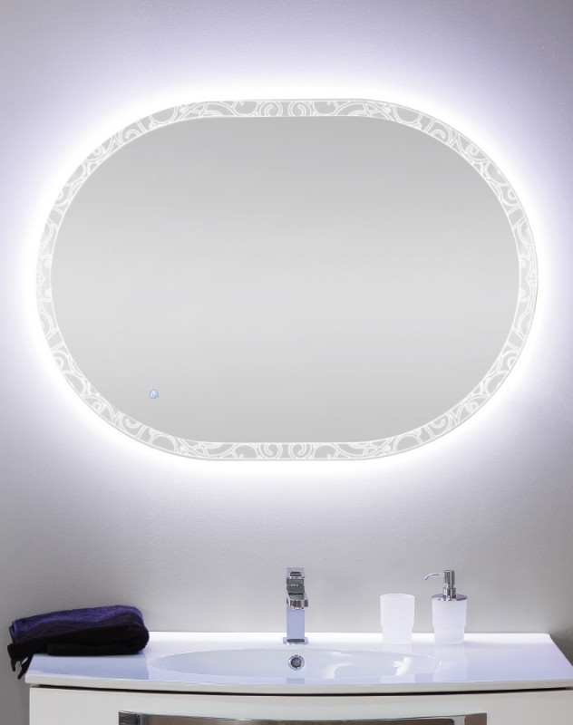 Зеркало Cezares 100 со встроенной LED подсветкой с LED подсветкой