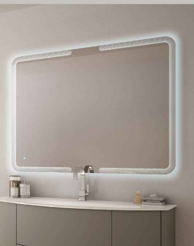 Зеркало Cezares 90 со встроенной LED подстветкой и сенсорным выключателем Touch System с встроенной подстветкой оптическая лупа rexant 3x с подстветкой и сенсорным регулятором 60 led white 31 0531