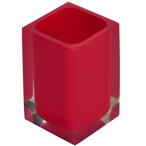 цена на Стакан для зубных щеток Ridder Colours 22280106 Красный