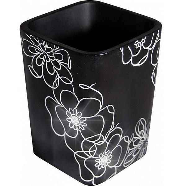 Стакан для зубных щеток Ridder Diamond 22160110 Черный стакан для зубных щеток ridder diamond 22160110 черный