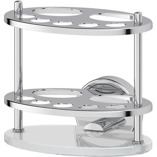 Фото - Держатель для зубных щеток FBS Luxia 060 Хром контейнер для косметических дисков fbs luxia lux 019