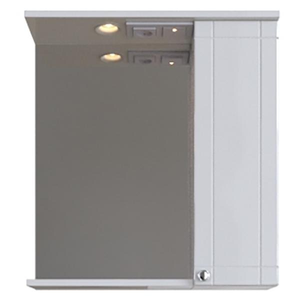 Зеркальный шкаф San Star Лира 60 R Белый подвесной шкаф san star 60 белый
