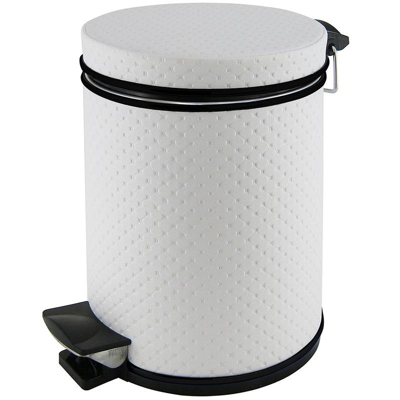 Ведро для мусора Cameya Punto 05PWC-9 Белое, черный декор фото