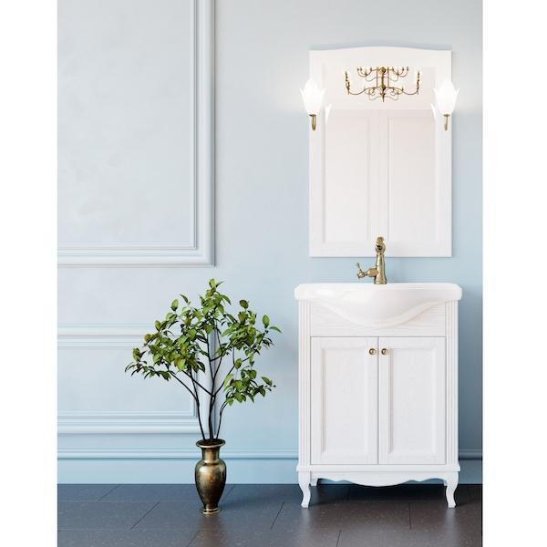 Комплект мебели для ванной ValenHouse Эллина 65 Белый, ручки Бронза комплект мебели для ванной valenhouse эллина 85 белый ручки бронза