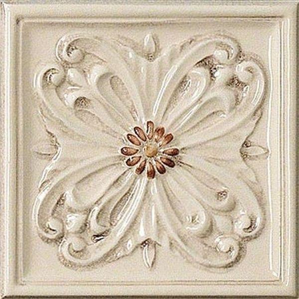 цены Керамический декор Vallelunga Rialto Beige+Painted Formella Floreale G91222 15х15 см