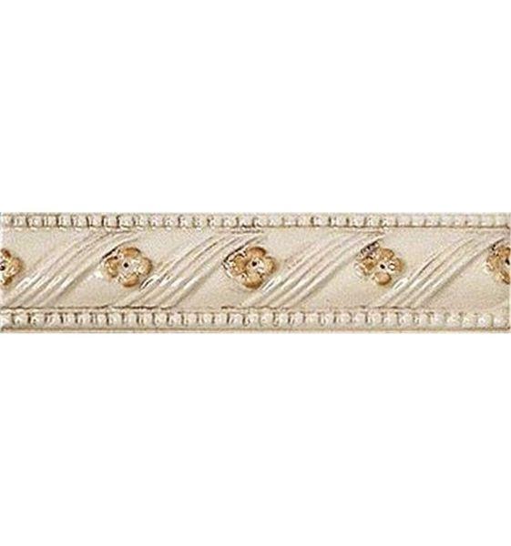 цена на Керамический бордюр Vallelunga Rialto Beige+Painted Listello Floreale Flor. G91129 3,5х15 см