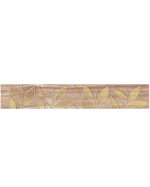 Керамический бордюр Ceramica Classic Bona темно-бежевый 66-03-11-1344 6,2х40 см стеклянная вставка ceramica classic мармара пальмира комплект серый 3шт компл 5 5х16 5 см