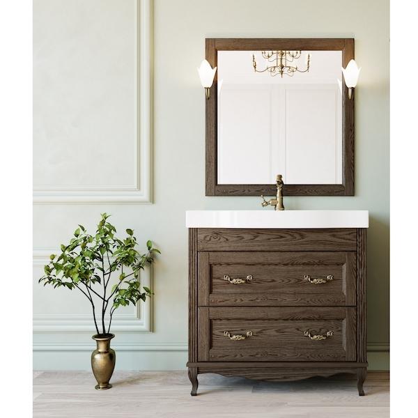 Комплект мебели для ванной ValenHouse Лиора 90 LK90_КБ Кальяри ручки Бронза фото