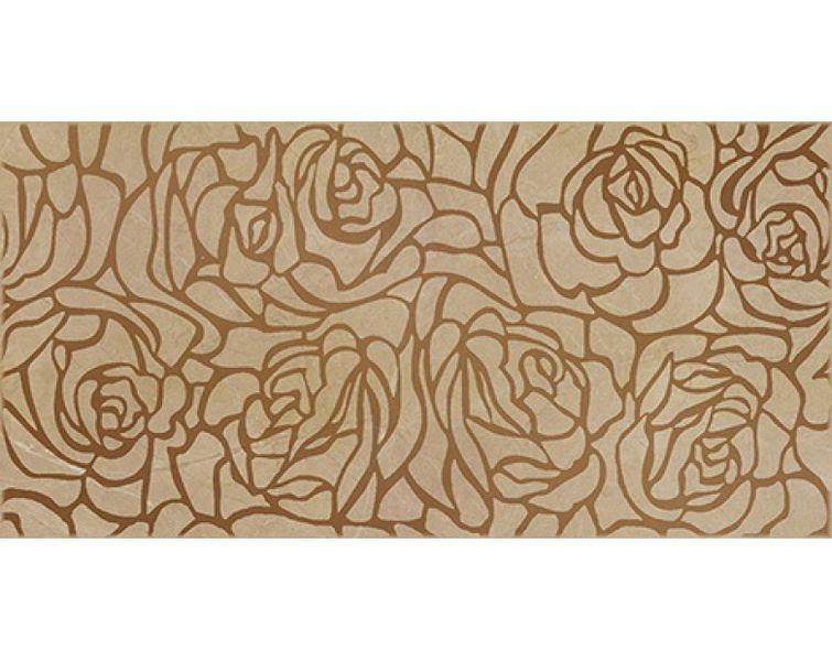 Керамический декор Ceramica Classic Serenity Rosas коричневый 20х40 см стеклянная вставка ceramica classic мармара пальмира комплект серый 3шт компл 5 5х16 5 см