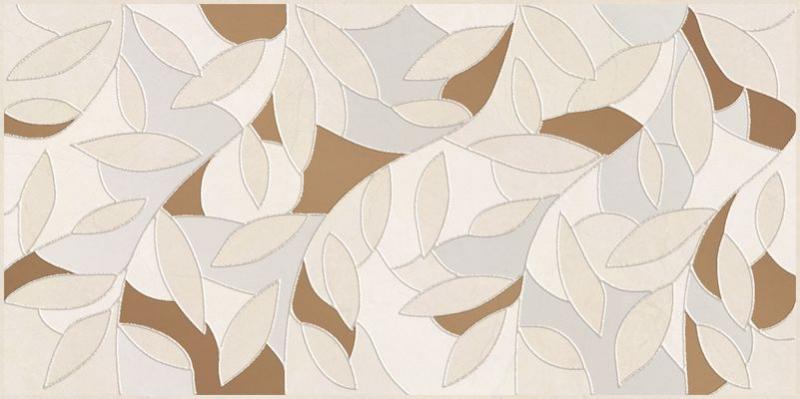 Керамический декор Ceramica Classic Serenity Folium кремовый 08-03-37-1350 20х40 см керамический декор ceramica classic мармара паттерн серый 17 03 06 616 20х60 см