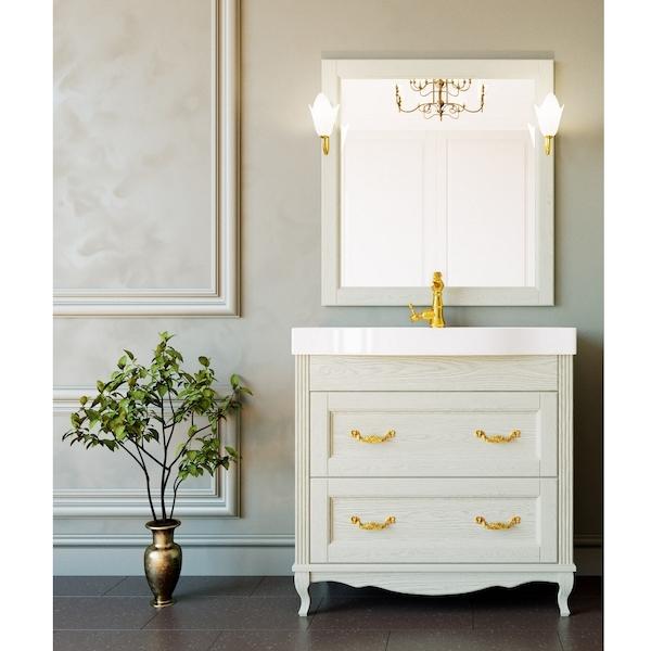 Комплект мебели для ванной ValenHouse Лиора 90 LK90_СЗ Слоновая кость ручки Золото фигурка декоративная magic home кролик цвет слоновая кость золотой 15 х 13 2 х 21 5 см