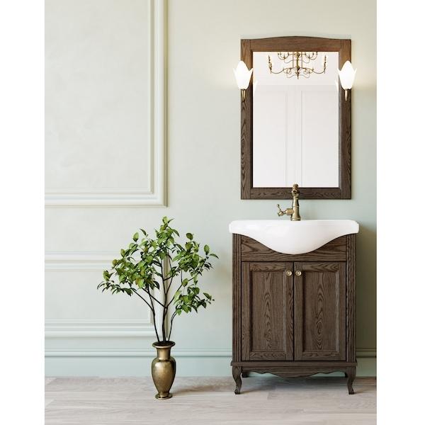 Комплект мебели для ванной ValenHouse Эллина 65 Кальяри, ручки Бронза комплект мебели для ванной valenhouse эллина 85 белый ручки бронза