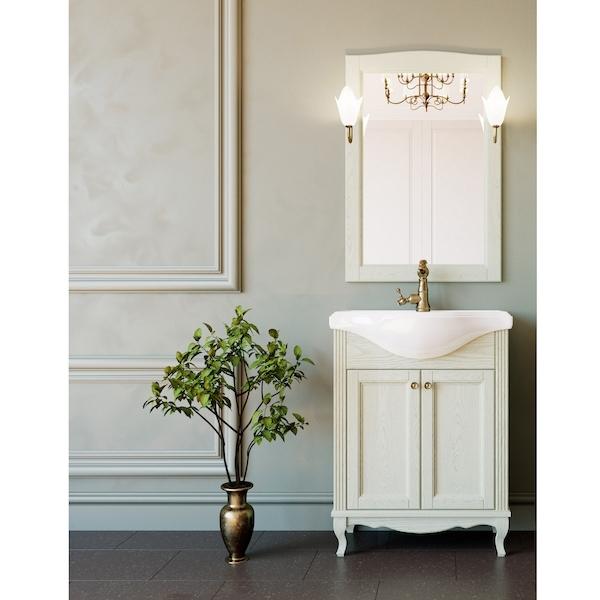 Комплект мебели для ванной ValenHouse Эллина 65 Слоновая кость, ручки Бронза комплект мебели для ванной valenhouse эллина 85 белый ручки бронза