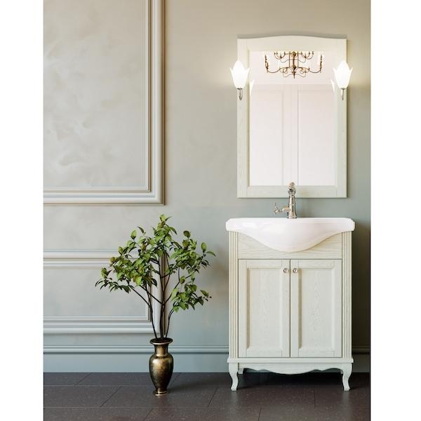 Комплект мебели для ванной ValenHouse Эллина 65 Слоновая кость, ручки Хром комплект мебели для ванной valenhouse эллина 65 белый ручки бронза