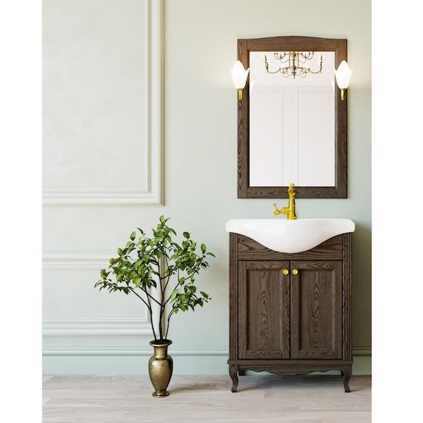 Комплект мебели для ванной ValenHouse Эллина 65 Кальяри, ручки Золото комплект мебели для ванной valenhouse эллина 65 белый ручки бронза