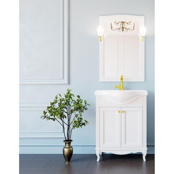 Комплект мебели для ванной ValenHouse Эллина 65 Белый, ручки Золото комплект мебели для ванной valenhouse эллина 65 белый ручки бронза