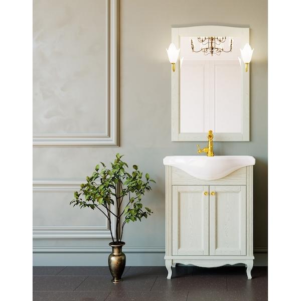 Комплект мебели для ванной ValenHouse Эллина 65 Слоновая кость, ручки Золото комплект мебели для ванной valenhouse эллина 65 белый ручки бронза