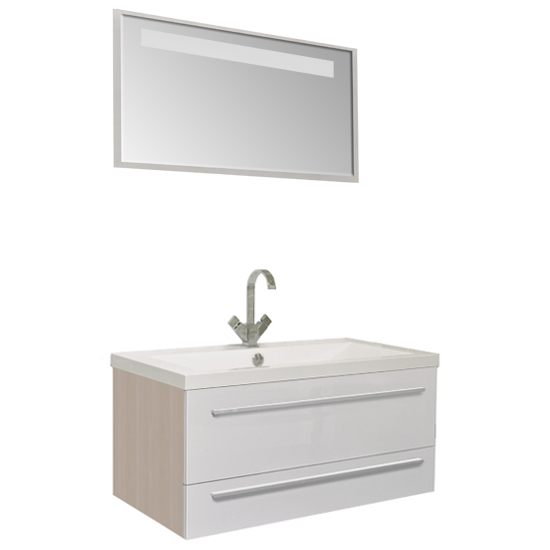 Нота 100 Алюминий светлый дубМебель для ванной<br>Мебель для ванной Акванет 171497 Нота 100 Алюминий. В стоимость входит тумба. Цвет: светлый дуб. Раковина, зеркало, светильник, подкатная тумба и пенал приобретаются отдельно.<br>