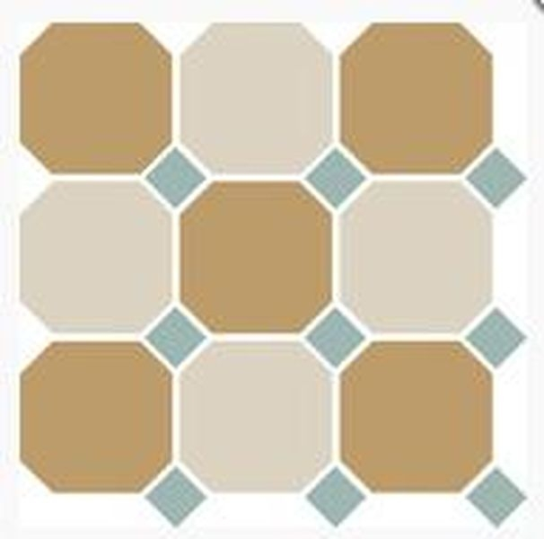 Керамогранит Top Cer Octagon New 4403+16 OCT13-A Yellow 03 White 16 OCTAGON/Turquoise 13 Dots 30х30 см