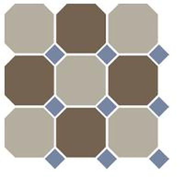 Керамогранит Top Cer Octagon New 4401+29 OCT11-A Beige 01 Coffe Brown 29 OCTAGON/Blue Cobalt 11 Dots 30х30 см