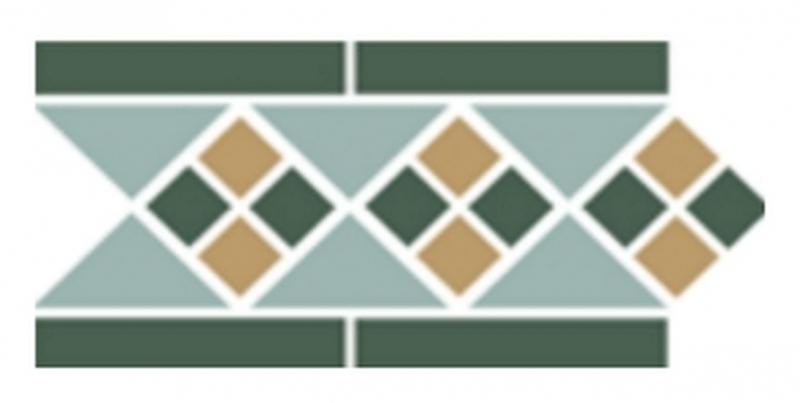 Керамический бордюр Top Cer Octagon New Border Lisbon with 1 strip (Tr.13, Dots 18+03, Strips 18) 15х28 см