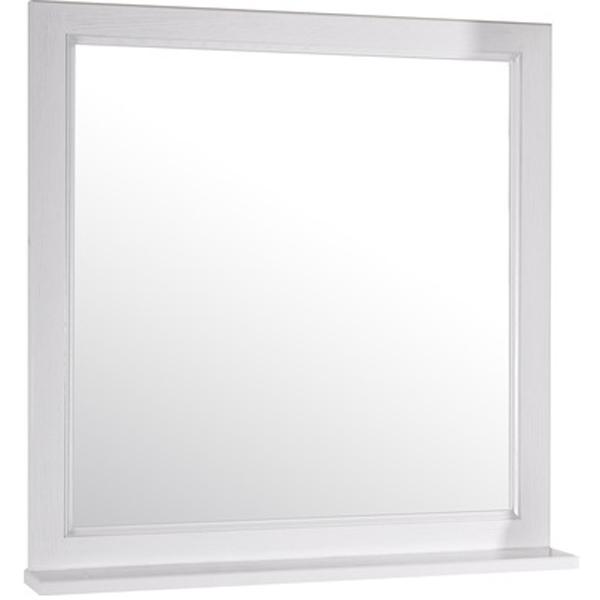 Зеркало ASB-Woodline Гранда 80 Белое c серебряной патиной шкаф навесной asb woodline гранда 11485