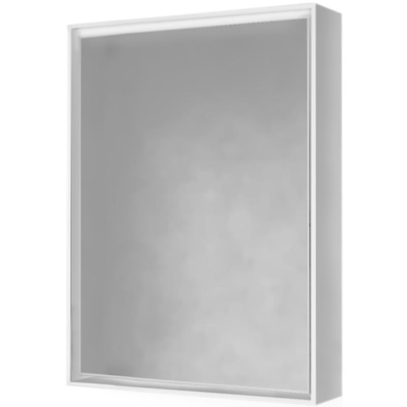 Зеркальный шкаф Raval Frame 60 с подсветкой Белый Дуб сонома шкаф пенал raval frame 35 подвесной белый дуб сонома