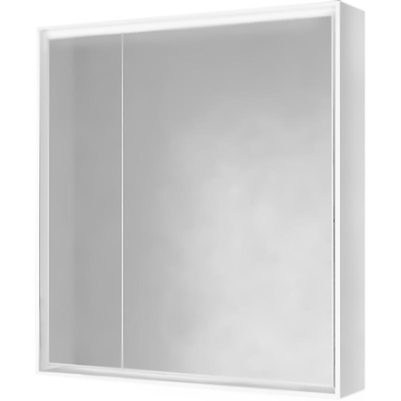 Фото - Зеркальный шкаф Raval Frame 75 с подсветкой Дуб трюфель зеркало raval frame 75 см с подсветкой дуб трюфель
