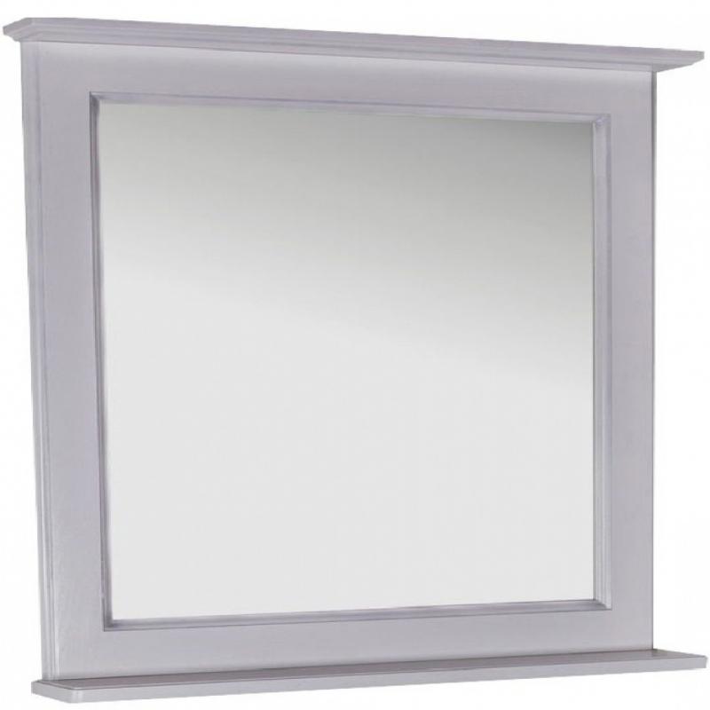 Зеркало ASB-Woodline Прато 100 Белый c серебряной патиной зеркало vezzolli алиана цвет белый 115 х 88 см