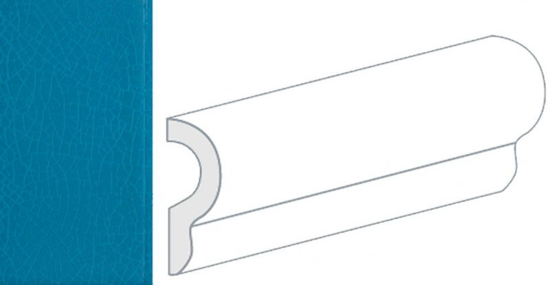 Керамический бордюр Equipe Crackle London Ocean Blue 25051 5х15 см billy ocean london