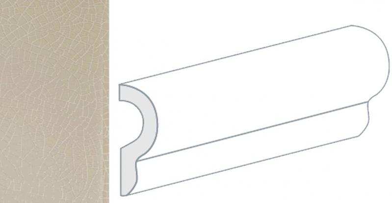 Керамический бордюр Equipe Crackle London Aspen 25047 5х15 см