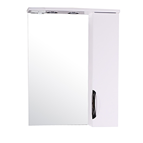 Зеркало со шкафом АСБ-мебель Миранда 60 11476 с подсветкой Белый