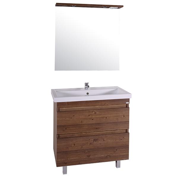 цена Тумба под раковину АСБ-мебель Коста 80 11496 Светлый Орех онлайн в 2017 году