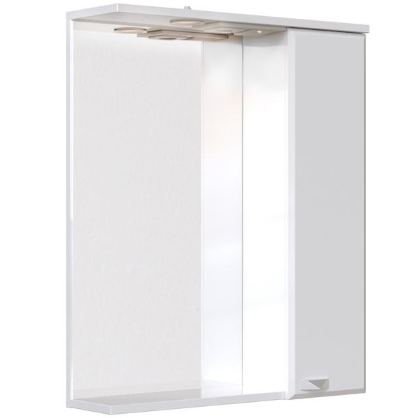 Зеркальный шкаф San Star Кристал 60 с подсветкой Белый зеркальный шкаф san star селена 80 с подсветкой белый
