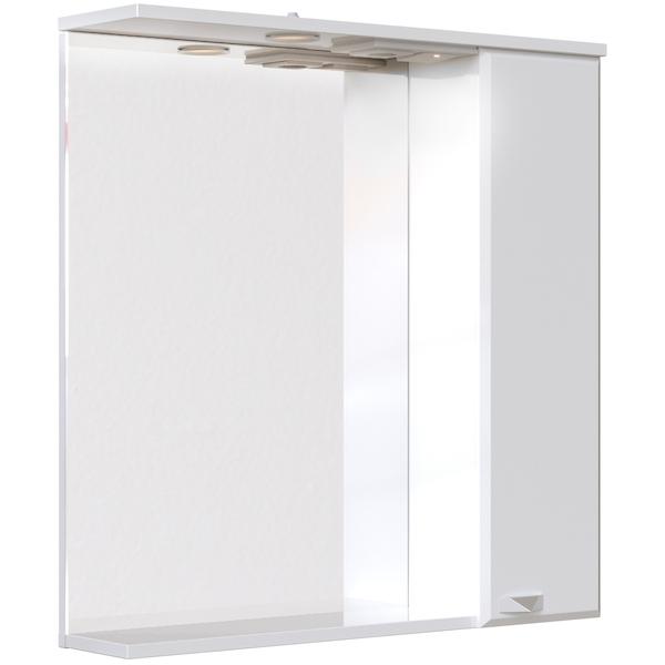 Зеркальный шкаф San Star Кристал 70 с подсветкой Белый зеркальный шкаф san star селена 80 с подсветкой белый