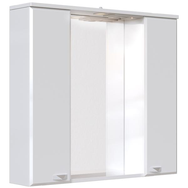 Зеркальный шкаф San Star Кристал 80 с подсветкой Белый зеркальный шкаф san star селена 80 с подсветкой белый