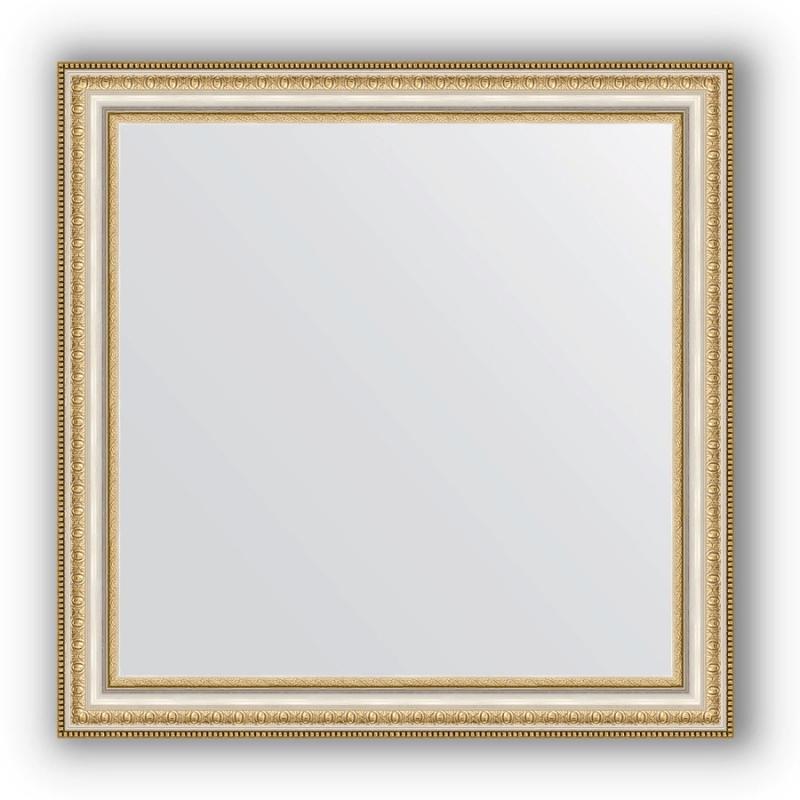 Зеркало Evoform Definite 65х65 Золотые бусы на серебре