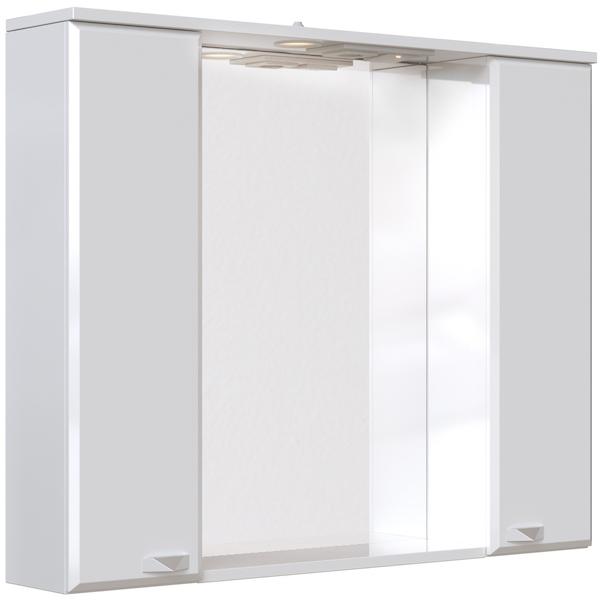 Зеркальный шкаф San Star Кристал 100 с подсветкой Белый зеркальный шкаф san star селена 80 с подсветкой белый