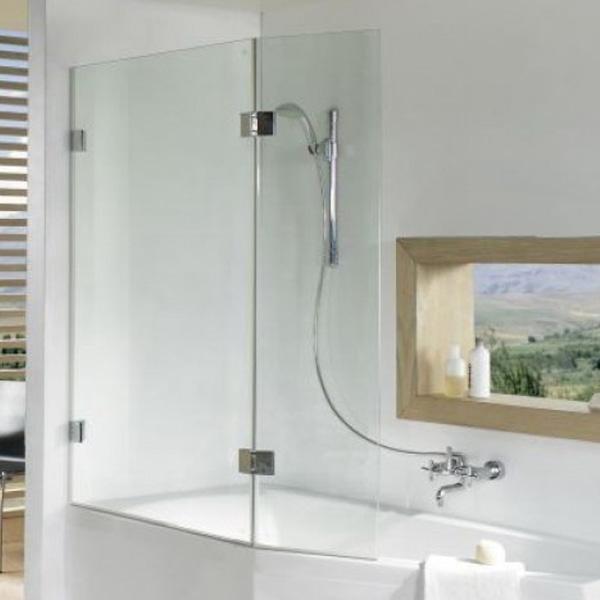 Шторка на ванну Riho Scandic 121 профиль Матовый хром стекло прозрачное комплектующие ограждения riho шторка душевая hamar quadrant 90x90 r55 gr33200